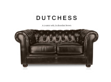 Dutchess 2 Seater Chesterfield Leather Sofa, Chocolate Brown