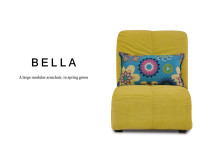 Bella Large Modular Fabric Armchair, Spring Green