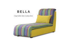 Bella Large Modular Fabric Chaise, Spring Colours