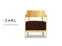 Carl Accent Chair, Coffee Brown