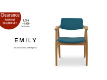 Emily Accent Chair, Turquoise