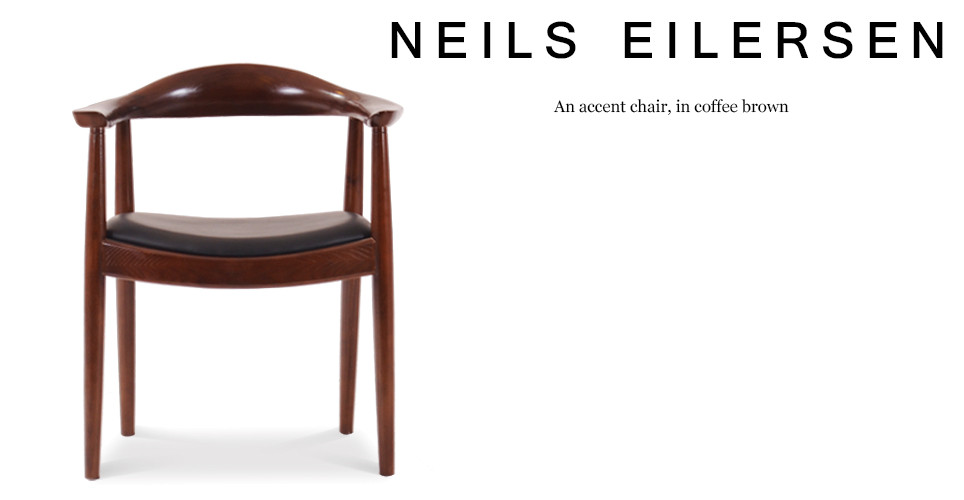 Neils Eilersen Accent Chair, Coffee Brown