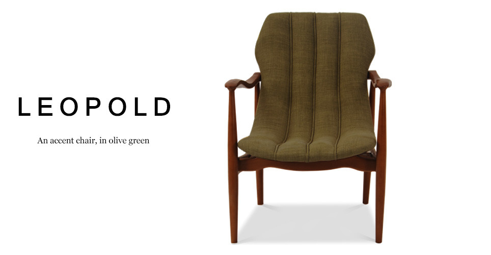 Leopold Accent Chair, Olive Green
