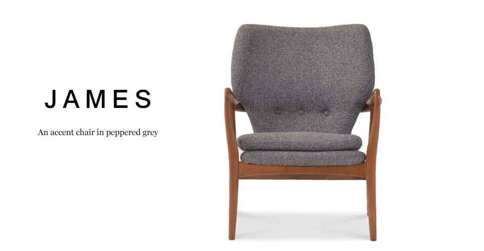 James Accent Chair, Peppered Grey