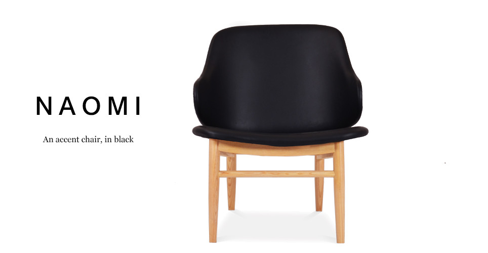 Naomi Accent Easy Chair, Midnight Black