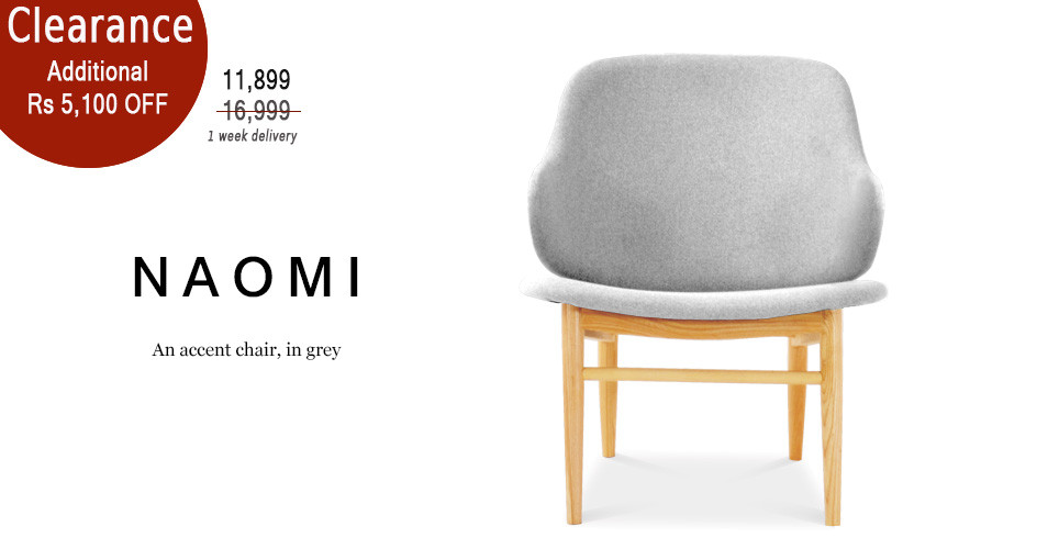 Naomi Accent Easy Chair, Light Grey