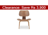 Eames Accent Chair, Plywood Brown