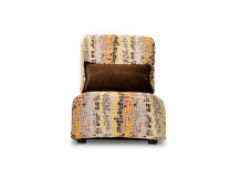 Bella Large Modular Fabric Armchair, Autumn Orange