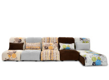 Bella Large Modular Fabric Corner Sofa, Autumn Colours