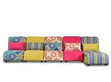 Bella Large Modular Fabric Corner Sofa, Spring Colours