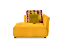 Emanuela Left Hand Facing Fabric Chaise, Jonquil Yellow