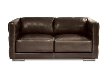 Troy Large 2 Seater Leather Sofa, Chocolate Brown